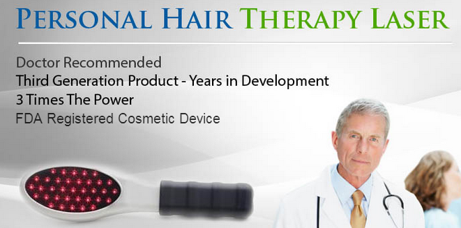 Personal Laser Hair Brush - Low Level Laser for Hair Growth